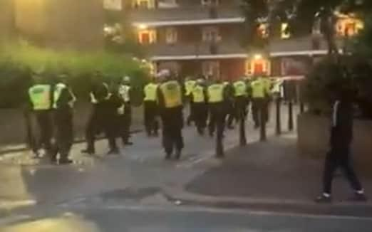 Officers were pelted with objects at an illegal party in White City - Twitter