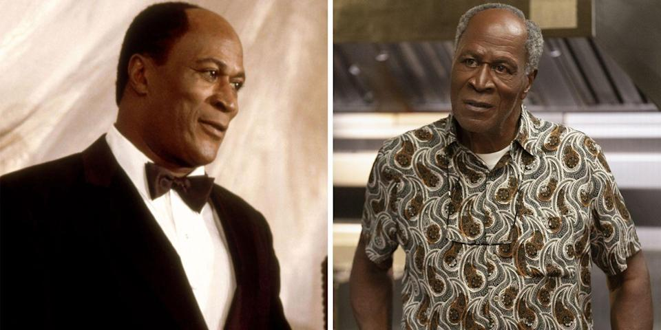 <p>John Amos played Cleo McDowell, Akeem's employer and Lisa's father, in the original 1988 film and since then, has continued to light up screens across American households. Prior to starring in <em>Roots</em> and <em>The</em> <em>Players Club,</em> he was solidified a television mainstay for his role as James Evans Sr. in the classic '70s hit <em>Good Times. </em>Now after an expansive 50-year career, he is back in his beloved McDowell's restaurant playing Prince Akeem's guiding voice and father-in-law. </p>