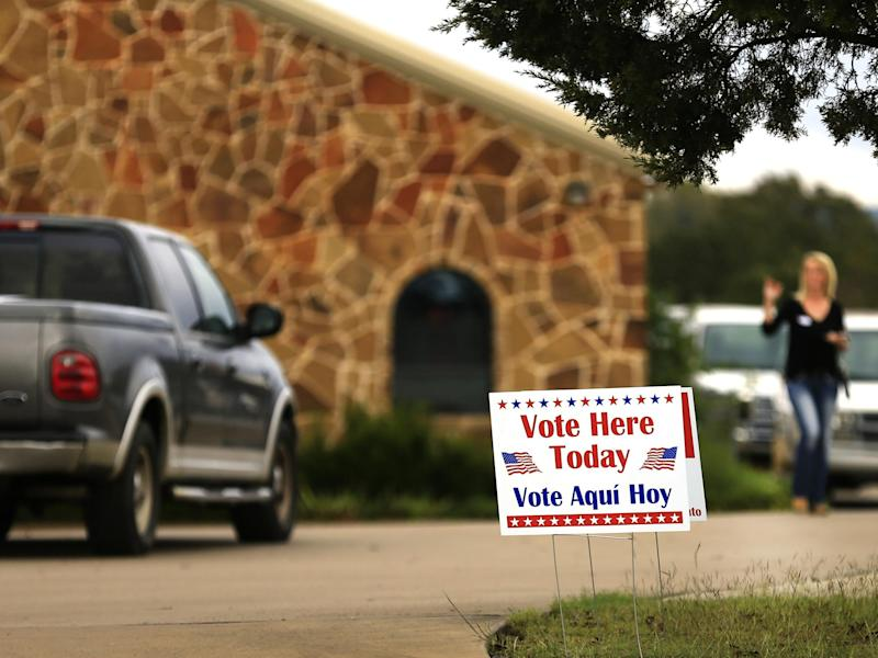 Voters arrive at a polling station in Brock, Texas, to cast their ballots in the November 2016 presidential election: Getty Images