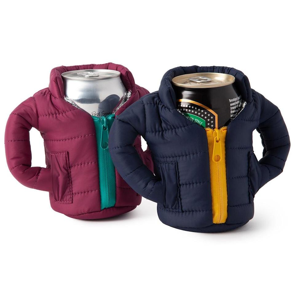 <p>Cold beer needs these <span>Cold Beer Coats</span> ($13) for cold weather.</p>