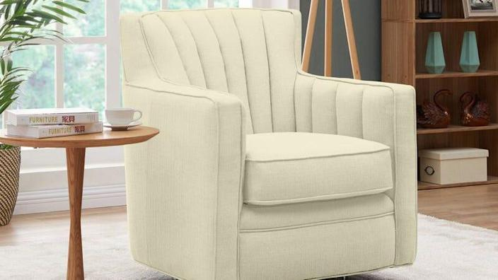 Nestle in deep to accent chair savings.