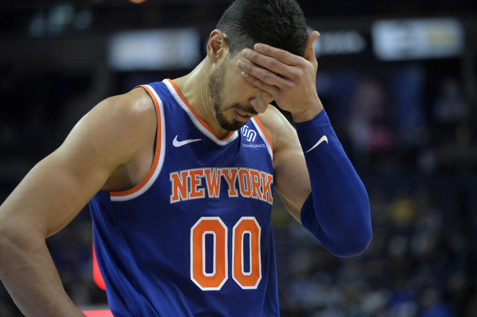 According to Enes Kanter, players across the league are scared to play for the Knicks only because of team owner James Dolan.