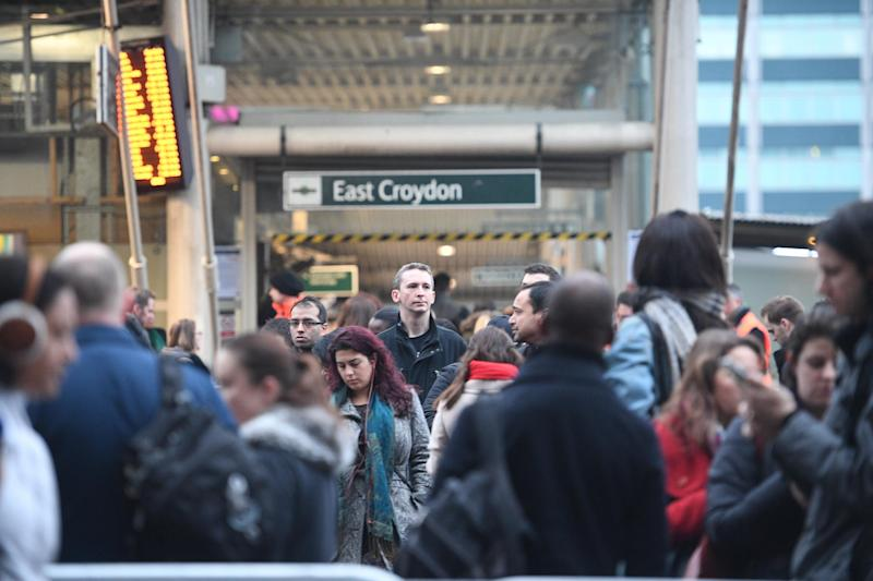 East Croydon station during the Southern Rail strike in December 2016: Jeremy Selwyn