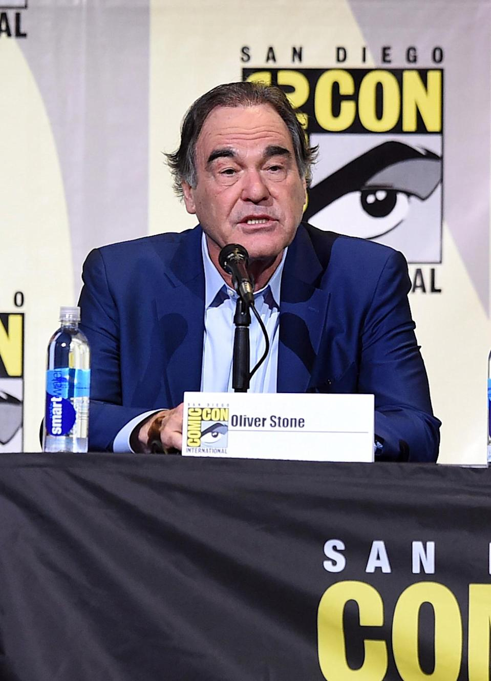 <p>Writer-director Oliver Stone at the Snowden panel on July 21. <i>(Photo: Kevin Winter/Getty Images)</i></p>