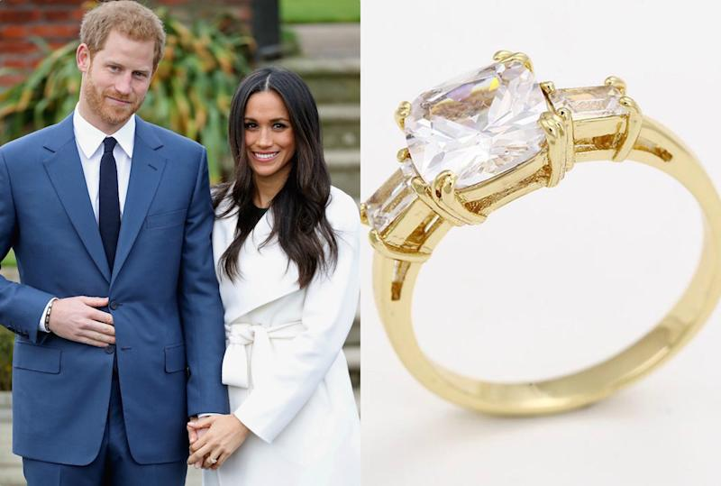 Here S How To Get A 40 Replica Of Meghan Markle S Engagement Ring