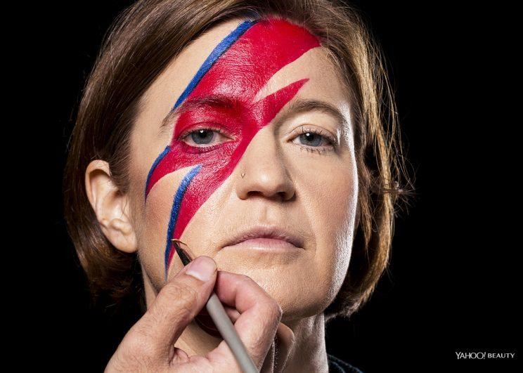 David Bowie Halloween makeup nears completion