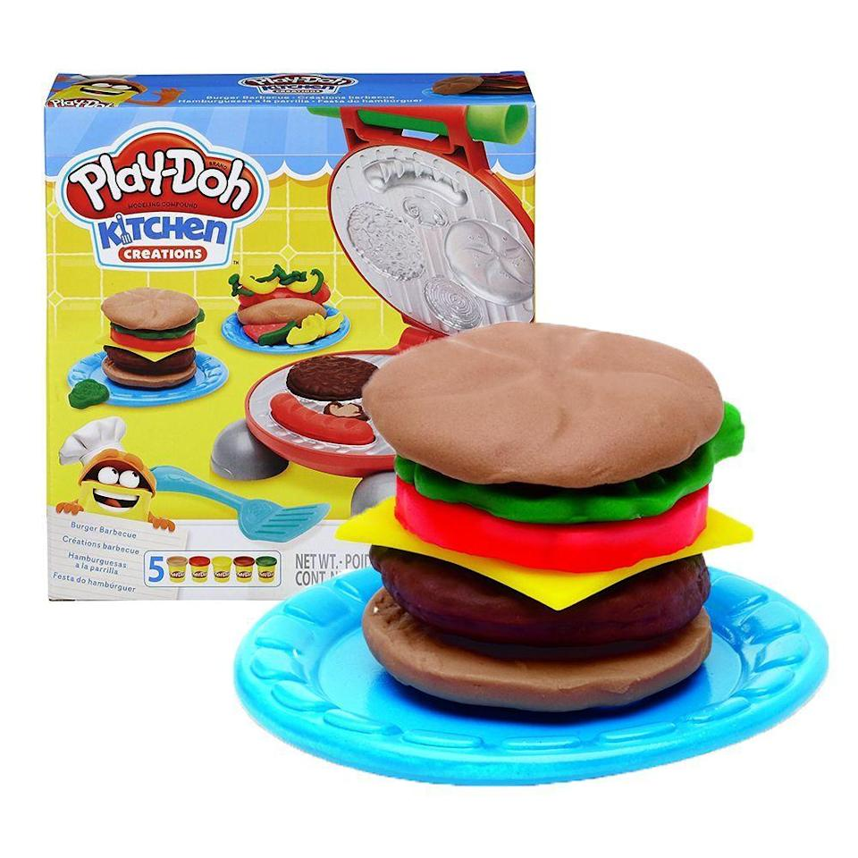 """<p><strong>Play-Doh</strong></p><p>walmart.com</p><p><strong>$9.96</strong></p><p><a href=""""https://go.redirectingat.com?id=74968X1596630&url=https%3A%2F%2Fwww.walmart.com%2Fip%2F55502592&sref=https%3A%2F%2Fwww.bestproducts.com%2Fparenting%2Fg37405641%2Fgifts-for-3-year-old-boys%2F"""" rel=""""nofollow noopener"""" target=""""_blank"""" data-ylk=""""slk:Shop Now"""" class=""""link rapid-noclick-resp"""">Shop Now</a></p><p>Play-Doh is a fantastic gift for 3-year-old boys — and so is the gift of grilling. Thanks to this set, there's no need to wait until he's a middle-aged dad to give your boy his first taste of the joys of grilling. This Play-Doh barbecue gives him everything he needs to put together a fine (albeit clay) meal.</p><p>Fun fact: The Play-Doh is <em>technically</em> edible, but we don't recommend it …</p>"""