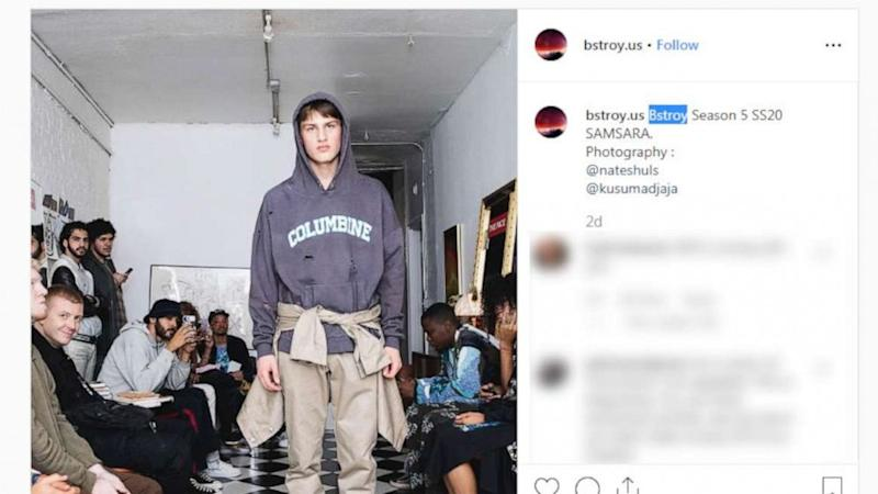 School shooting hoodies with bullet holes land fashion company in hot water (ABC News)