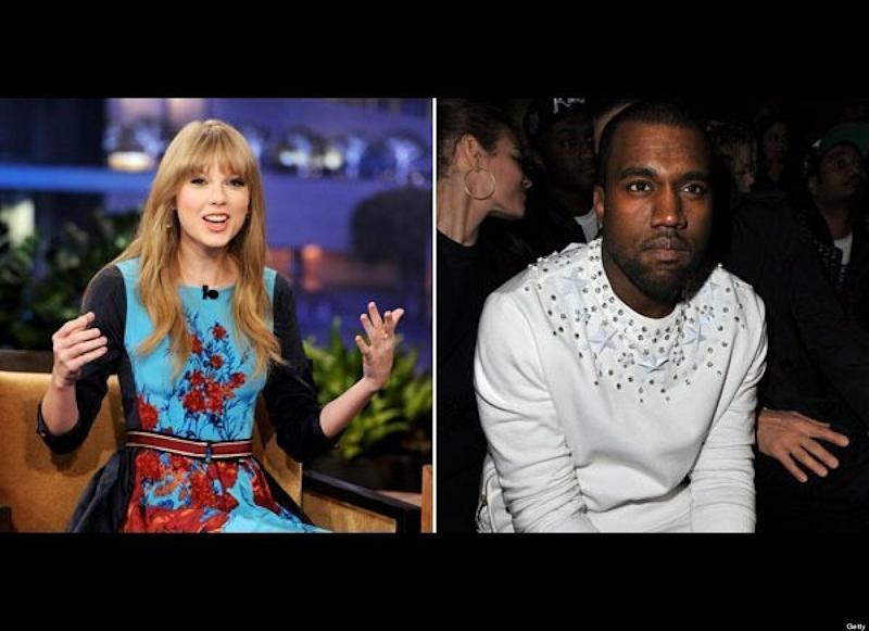 "Kayne West infamously hijacked Taylor Swift's acceptance speech at the 2009 Video Music Awards, interrupting her to say, ""I'm really happy for you. I'ma let you finish, but Beyoncé had one of the best videos of all time."" Swift was dumbstruck by the incident and it seemed as if she didn't want to get into it with the rapper. ""I don't know him, and I've never met him, so..."" she said. ""I don't want to start anything because I had a great night tonight."" A year later she was literally singing a different tune. At the 2010 VMAs she p<a href=""http://www.hollywoodlife.com/2010/09/13/taylor-swift-kanye-west-mtv-video-music-awards-youre-still-an-innocent-time-we-had-a-toast/"" target=""_hplink"">erformed her new song</a> ""You're Still an Innocent,"" a reference to the previous year's incident with West, basically calling him immature. ""Thirty-two and still growing up now / who you are is not what you did / you're still an innocent,"" she sang. Kanye didn't have any right to fire back, but of course he did. At a concert in New York City, <a href=""http://www.popeater.com/2010/11/24/kanye-west-concert-taylor-swift/"" target=""_hplink"">West blasted Swift to his fans</a>: ""Everybody needs a villain, don't we? We need to blame someone at all times ... I was emotional, that was not exactly the way I wanted to word it, but I wrote it, I rode it, just as Taylor never came to my defense in any interview, and rode the waves and rode it and rode it."" The feud seems to have blown over, as Swift wore a blouse from Kanye West's spring 2012 collection in the <a href=""http://www.hollywoodlife.com/2012/03/07/taylor-swift-kanye-west-design-harpers-bazaar-australia/"" target=""_hplink"">pages of <em>Harper's Bazaar.</em> </a>"