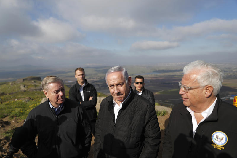 U.S.  senator vows to seek recognition of Israeli rule in Golan