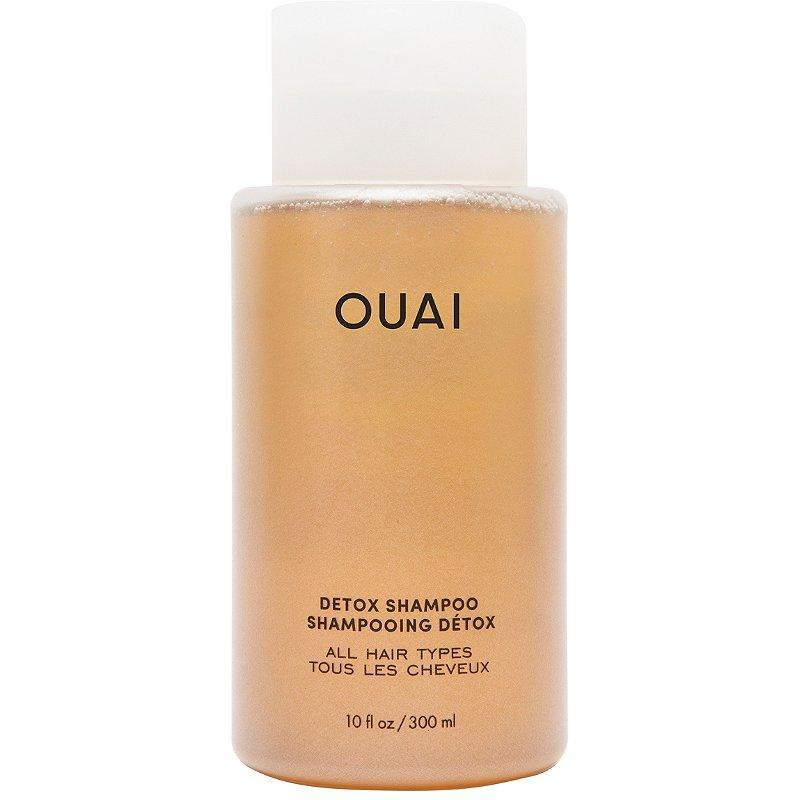 """Virtually all of Ouai's shampoos and conditioners have refill pouches, but we can't think of a formula we'd go through more quickly than the Detox Shampoo. Ideal for anyone who uses a lot of styling products, deals with hard water in their shower, or gets an oily buildup from working out or simply sweating in the summer, this apple-cider-vinegar-spiked cleanser — and its <a href=""""https://shop-links.co/1736414197766960783"""" rel=""""nofollow noopener"""" target=""""_blank"""" data-ylk=""""slk:value-sized $60 refill"""" class=""""link rapid-noclick-resp"""">value-sized $60 refill</a> — will have you using <a href=""""https://www.allure.com/gallery/ten-dry-shampoos-under-20?mbid=synd_yahoo_rss"""" rel=""""nofollow noopener"""" target=""""_blank"""" data-ylk=""""slk:dry shampoo"""" class=""""link rapid-noclick-resp"""">dry shampoo</a> far less frequently."""