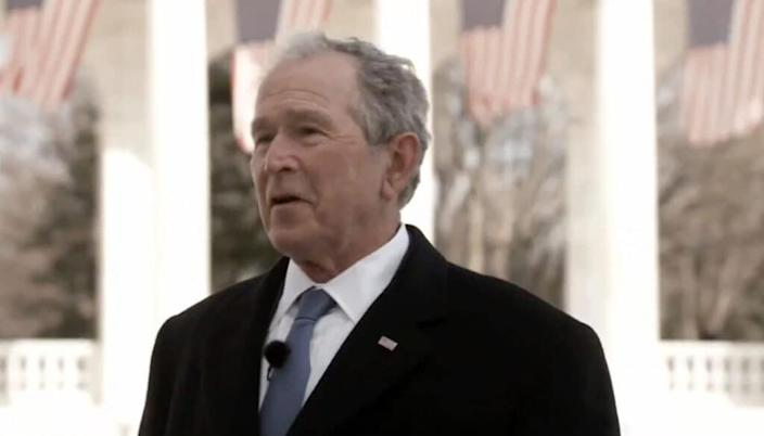In this screengrab, former President George W. Bush speaks during the Celebrating America Primetime Special on January 20, 2021. (Photo by Handout/Biden Inaugural Committee via Getty Images )
