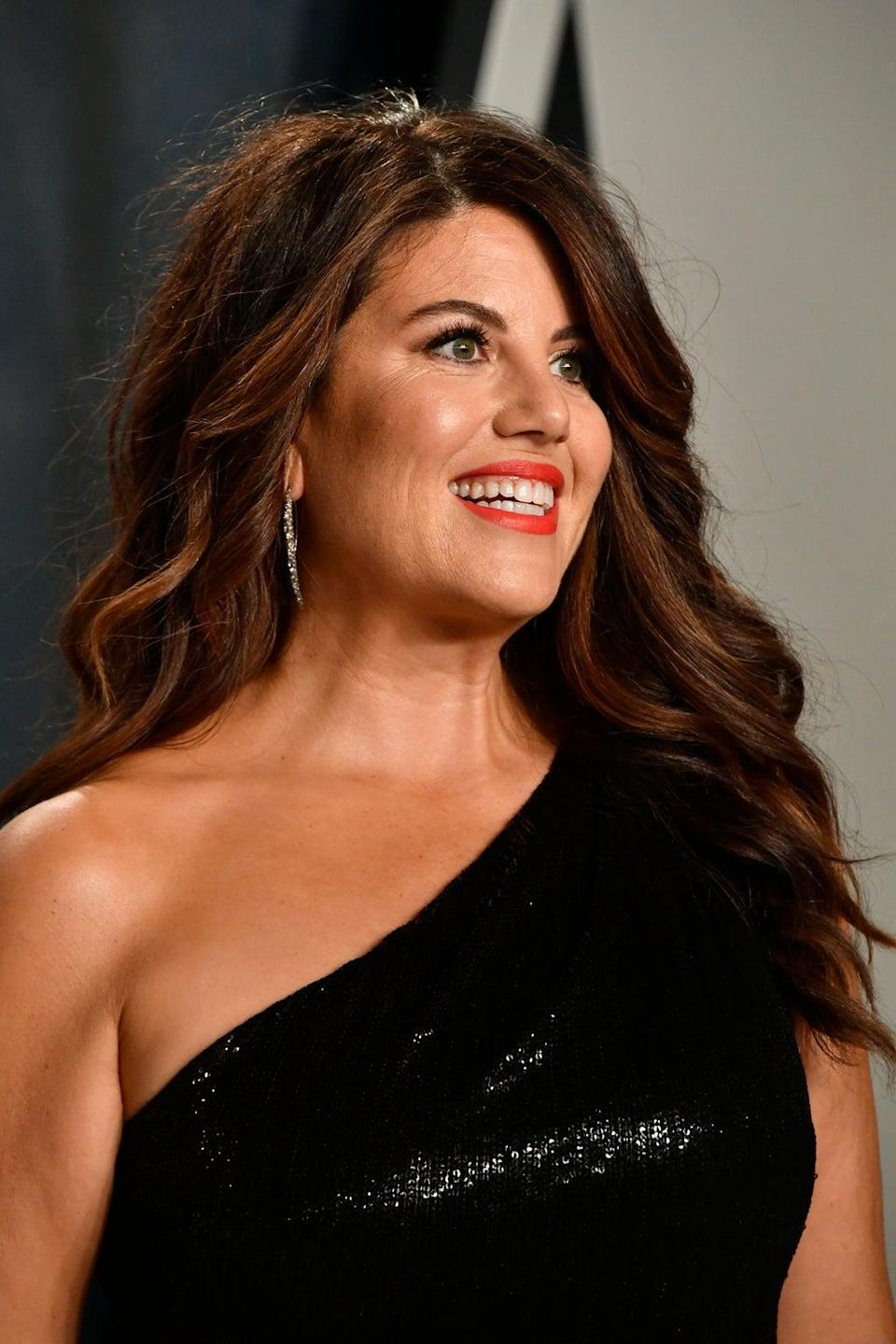 Monica Lewinsky attends the 2020 Vanity Fair Oscar Party on 9 February 2020 in Beverly Hills, California (Frazer Harrison/Getty Images)