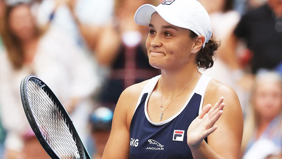 Ash Barty, pictured here after defeating Vera Zvonareva at the US Open.
