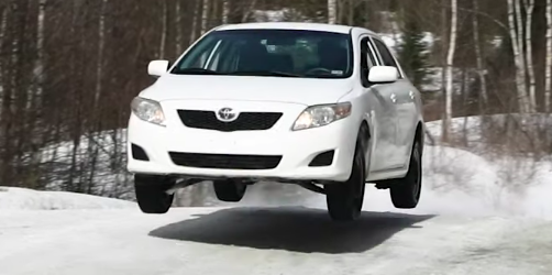 Rally Motor Credit >> Hell Yeah You Can Snow Rally A Stock Toyota Corolla