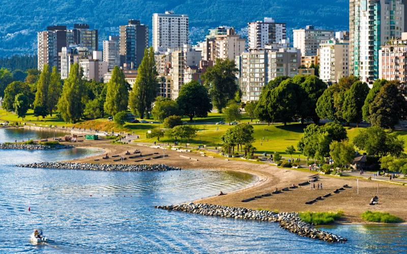 A stretch of Vancouver's beaches - Credit: Getty