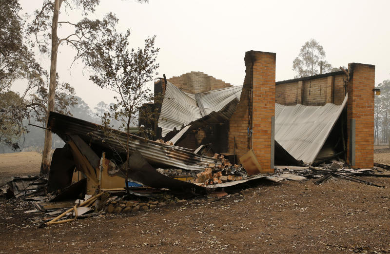 Pictured is the new Rainbow Flat Rural Fire Service building which was destroyed by the NSW bushfires. Source: AAP