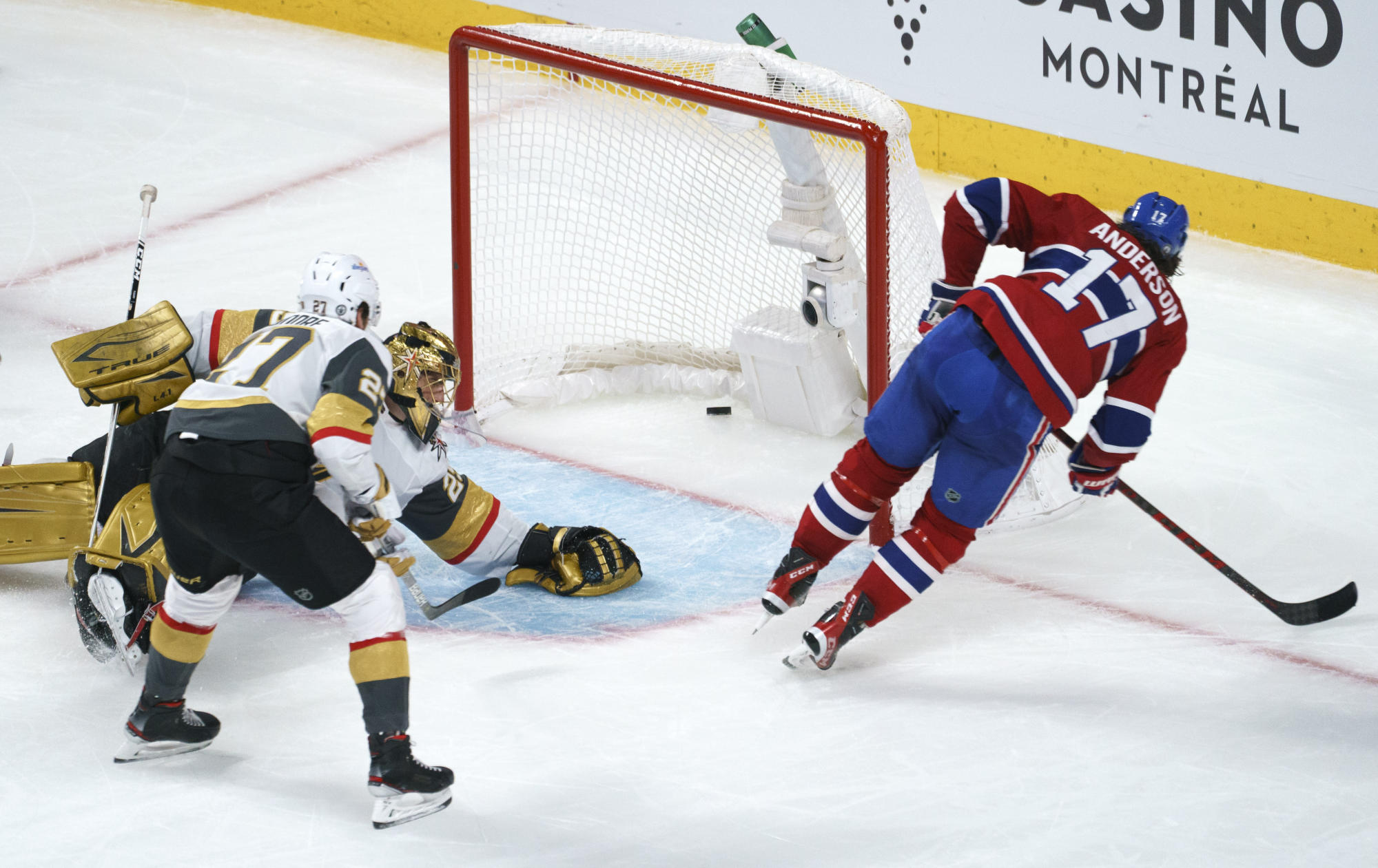 Canadiens beat Golden Knights 3-2 in OT to take 2-1 lead