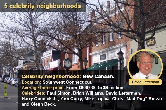 5 celebrity neighborhoods - New Canaan