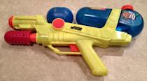 """<p>Super Soakers took water fights to the next level, and these vibrantly-colored aqua guns are still in high demand. <a href=""""https://www.ebay.com/itm/Larami-Super-Soaker-XP70/272337374470?hash=item3f68928d06:g:270AAOSwU-pXq89I:rk:29:pf:0"""" rel=""""nofollow noopener"""" target=""""_blank"""" data-ylk=""""slk:Models like this one"""" class=""""link rapid-noclick-resp"""">Models like this one</a> from the 1990s start around $129, and can <a href=""""https://www.ebay.com/itm/Vintage-90s-Larami-Super-Soaker-CPS-3000-with-Backpack-Water-Gun-Toy-9798-0/163399106512?hash=item260b587fd0:g:gn8AAOSwhzhb7Nrl:rk:2:pf:0"""" rel=""""nofollow noopener"""" target=""""_blank"""" data-ylk=""""slk:go for as much as $500"""" class=""""link rapid-noclick-resp"""">go for as much as $500</a>.</p>"""