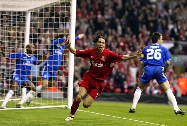 Luis Garcia's goal against Chelsea took Liverpool to the Champions League final (Phil Noble/PA)