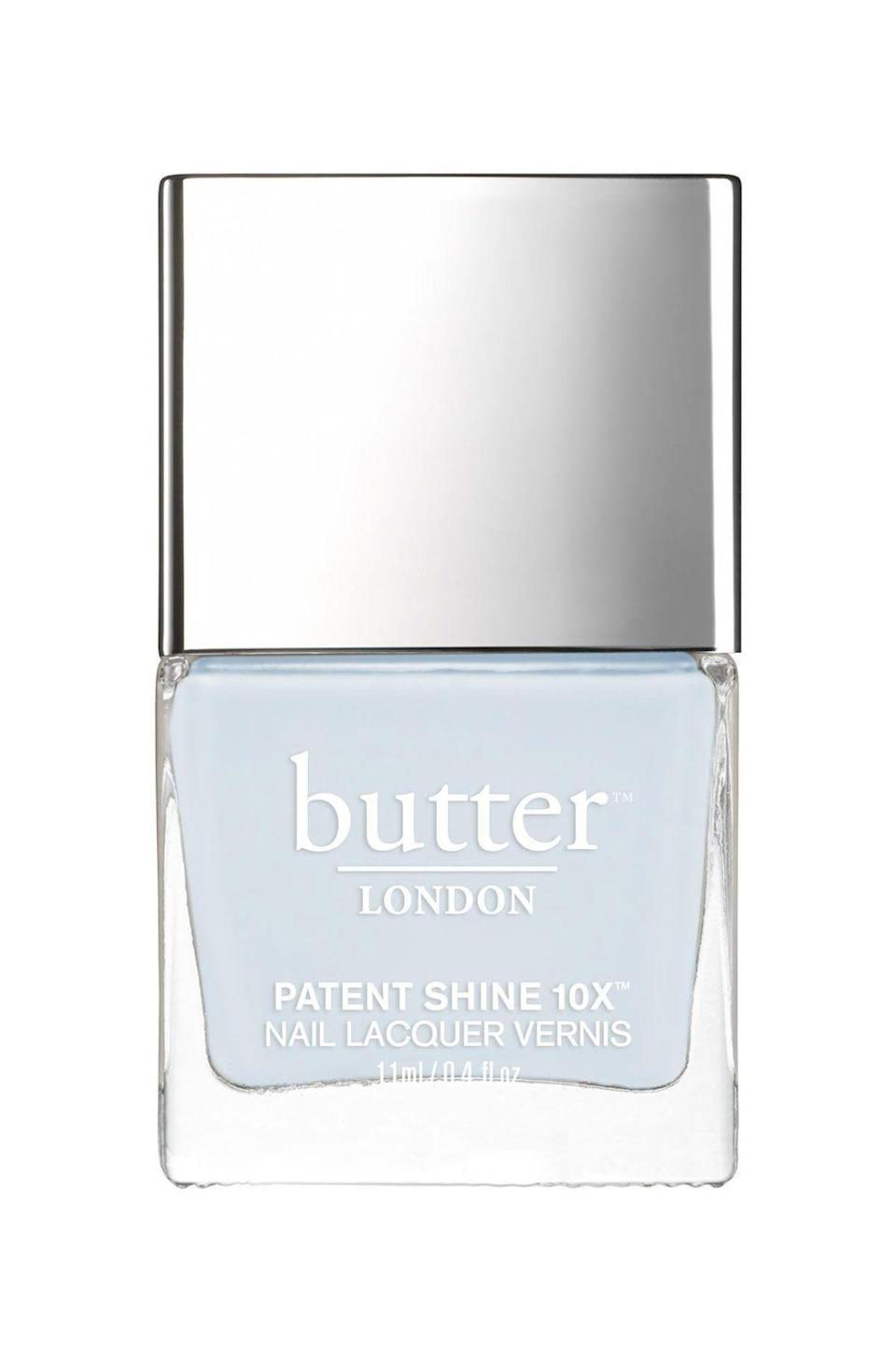 """<p><strong>butter LONDON</strong></p><p>amazon.com</p><p><a href=""""https://www.amazon.com/dp/B01ALDXI4K?tag=syn-yahoo-20&ascsubtag=%5Bartid%7C10065.g.2741%5Bsrc%7Cyahoo-us"""" rel=""""nofollow noopener"""" target=""""_blank"""" data-ylk=""""slk:SHOP NOW"""" class=""""link rapid-noclick-resp"""">SHOP NOW</a></p><p>Transition away from those dark wintery colors and soften up your nails with this baby powder blue. </p>"""