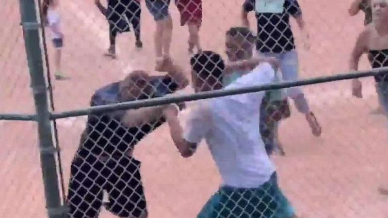 Parents brawl during youth baseball game after disagreeing with 13-year-old umpire