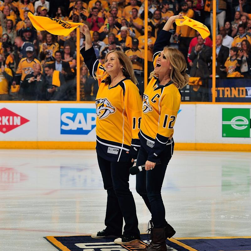 Carrie Underwood Surprises Mike Fisher by Singing the National Anthem at His Hockey Game