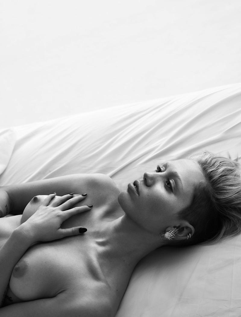 "Miley Cyrus in ""Pillow Tweets."""
