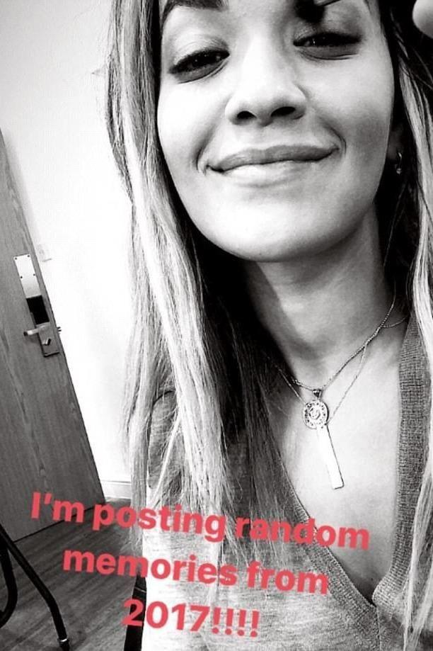 Rita posted a selfie with the caption,