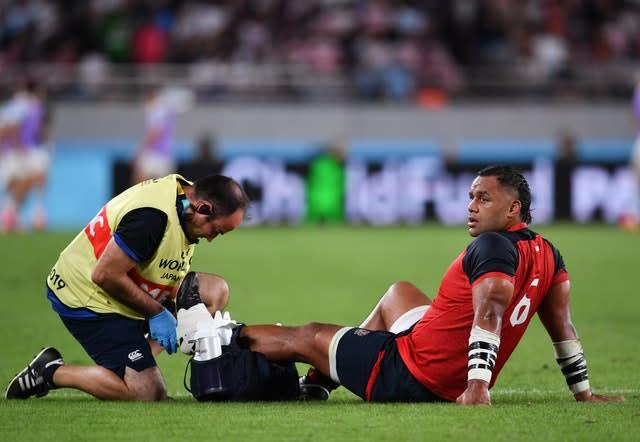 Billy Vunipola has an ankle issue (Ashley Western/PA)