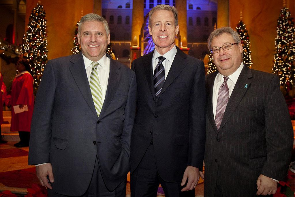 """Phil Kent, Chairman and CEO of Turner Broadcasting Sytem, Inc.; Jeff Bewkes, Chairman and CEO of Time Warner, Inc.; and Steve Koonin, President of Turner Entertainment Networks, attend TNT's """"Christmas in Washington."""""""