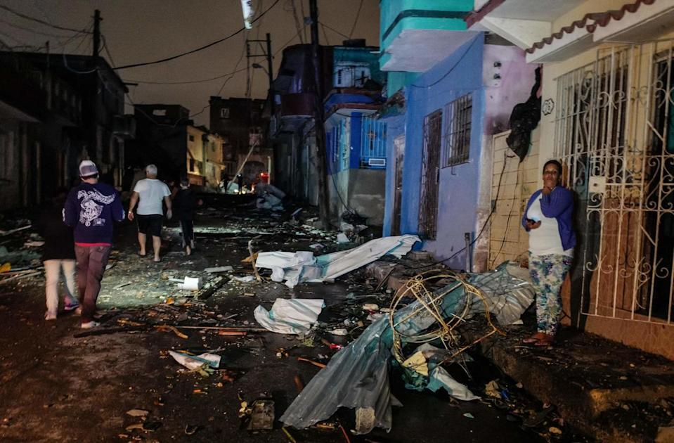 The tornado whipped through working class districts of the Cuban capital leaving a trail of destruction in its wake.