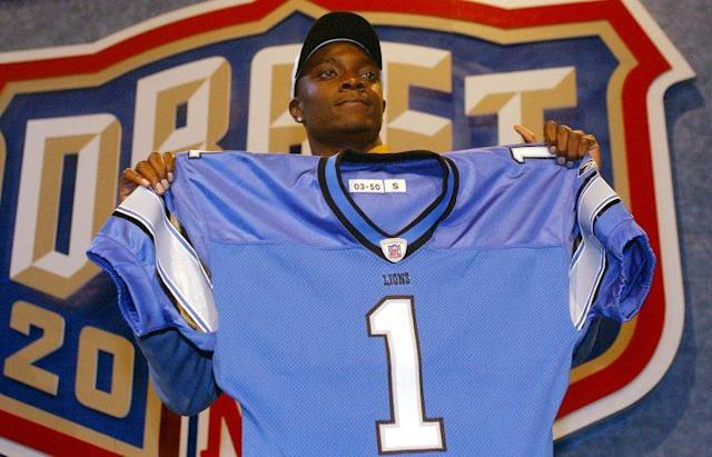 Charles Rogers on draft day in 2003. (AP)
