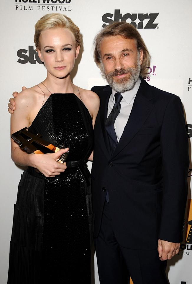 "<a href=""http://movies.yahoo.com/movie/contributor/1808686699"">Carey Mulligan</a> and <a href=""http://movies.yahoo.com/movie/contributor/1809655132"">Christoph Waltz</a> at the 15th Annual Hollywood Film Awards in Beverly Hills, California on October 24, 2011."