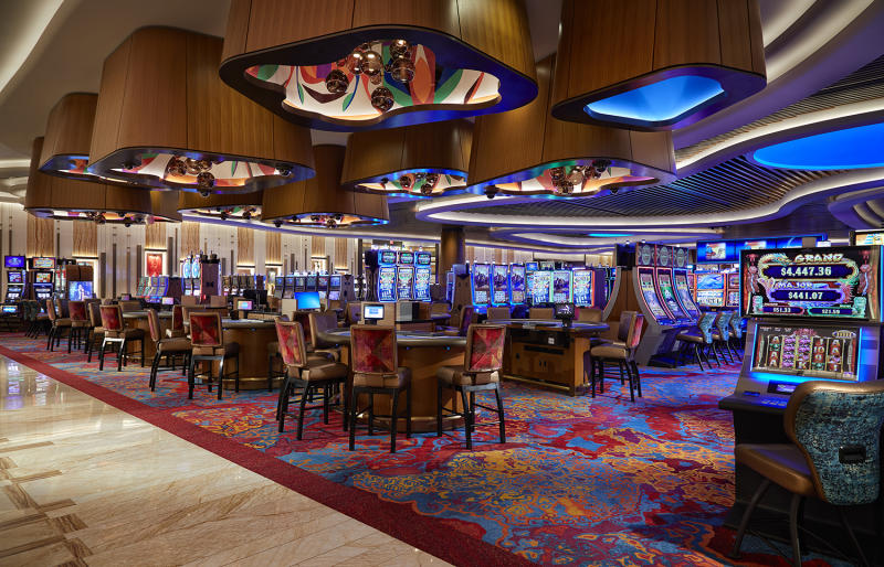 The state-of-the-art casino floor is nearly 200,000 square feet, and alive with music memorabilia and non-stop action. (Photo: Courtesy of The Guitar Hotel at Hard Rock Hotel & Casino Hollywood)