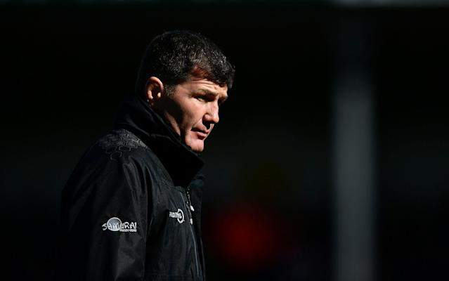<span>Rob Baxter, Head Coach of Exeter Chiefs, was unhappy with their performance</span> <span>Credit: Getty Images </span>