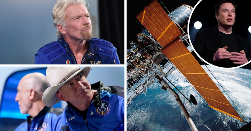 Sir Richard Branson, Jeff Bezos, the view of earth from space an Elon Musk.