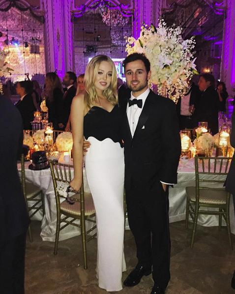 <p>Ringing in the New Year at Mar-a-Lago resort in Florida with boyfriend Ross Mechanic. Tiffany opted for a strapless black-and-white colour-block John Paul Ataker gown. <i> (Photo: Instagram) </i> </p>
