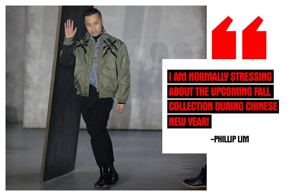 """<p><strong>Phillip Lim, Designer</strong> <em>(Photo: Getty Images)</em> """"I am normally stressing about the upcoming Fall collection during Chinese New Year! However to celebrate, I do send my nieces, nephews, and god children red envelopes!"""" </p>"""
