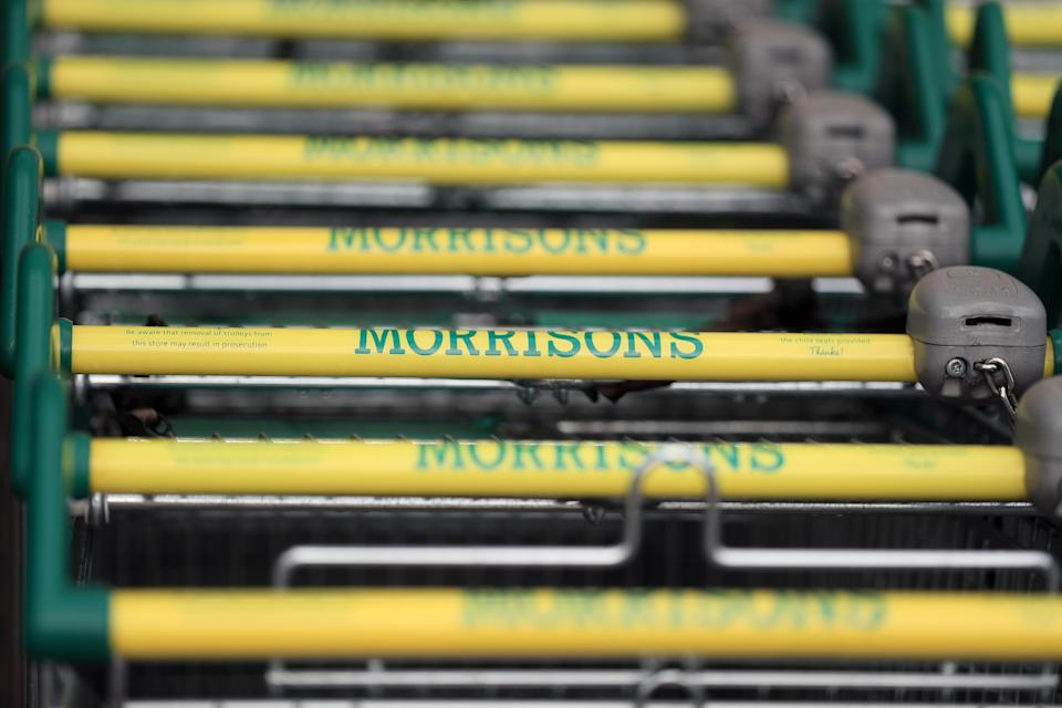 File photo dated 19/06/2020 of Morrisons trollies. Investment giant Apollo has said it considering launching its own bid to buy Morrisons after the supermarket chain agreed a �6.3 billion private equity takeover offer on Saturday. Issue date: Monday July 5, 2021.