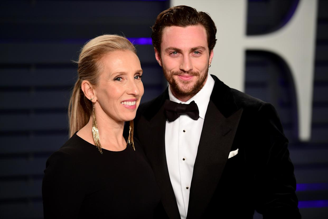 Sam Taylor-Johnson and Aaron Taylor-Johnson attending the Vanity Fair Oscar Party held at the Wallis Annenberg Center for the Performing Arts in Beverly Hills, Los Angeles, California, USA.