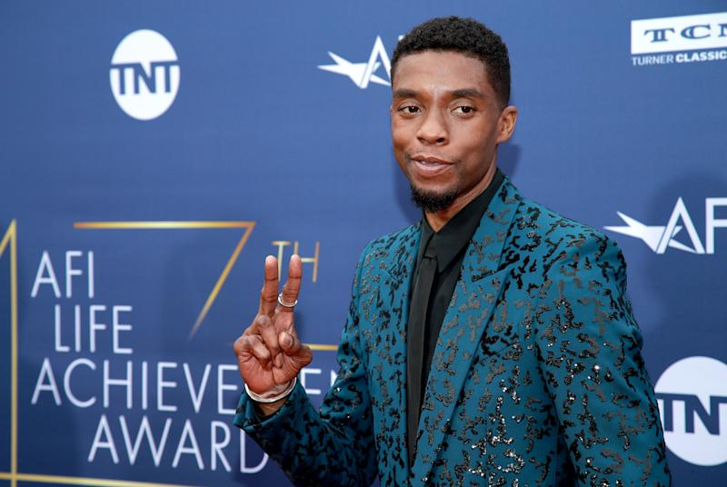 HOLLYWOOD, CALIFORNIA - JUNE 06: Chadwick Boseman attends the 47th AFI Life Achievement Award honoring Denzel Washington at Dolby Theatre on June 06, 2019 in Hollywood, California. (Photo by Rich Fury/Getty Images)