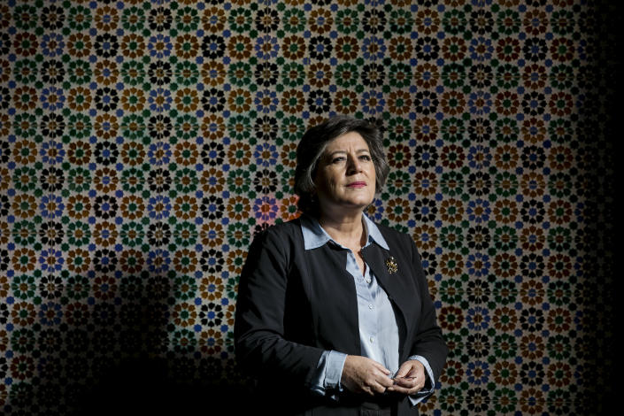 Ana Gomes, a former European Parliament member who has accused Isabel dos Santos of money laundering, in Lisbon, Portugal, Jan. 8, 2020. (Ana Brigida/The New York Times)