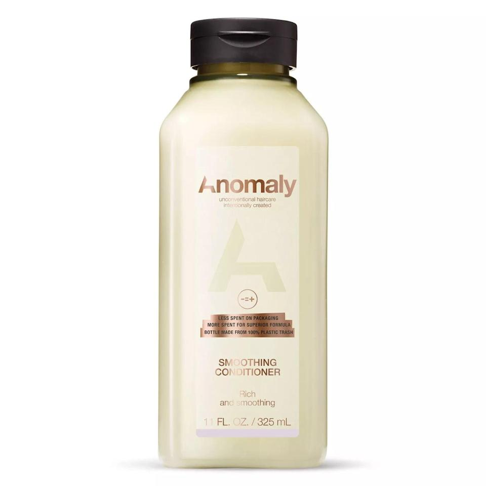 <p>Formulated with argan oil and quinoa, the <span>Anomaly Smoothing Conditioner</span> ($6) feels rich, but still has a lightweight consistency. I spread a good amount of it on from mid-length to my ends and let it sit for two to three minutes. My hair instantly felt smoother and softer. It felt moisturized but not weighed down.</p>