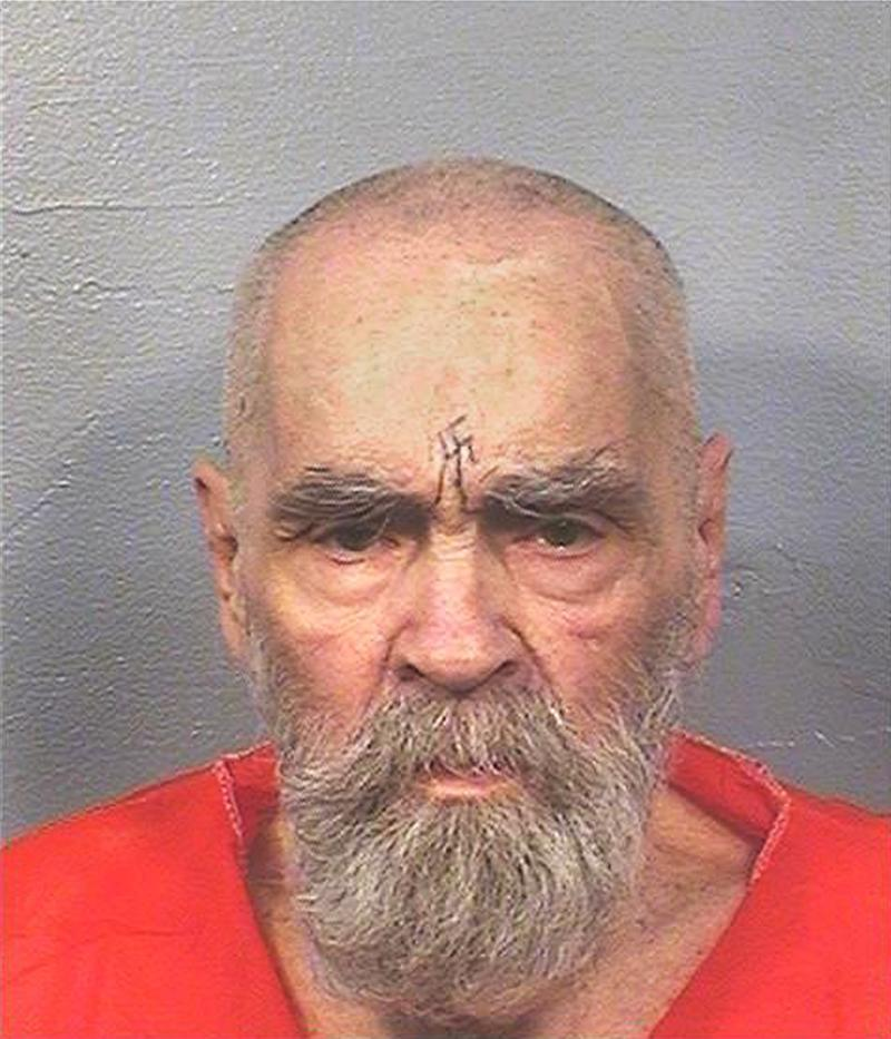 """Charles Manson, the cult leader who sent followers known as the """"Manson Family"""" out to commit gruesome murders, currently being held at California State Prison, Corcoran, California, U.S. is seen in this August 2017 photo released on November 16, 2017. Courtesy California Department of Corrections and Rehabilitation/Handout via REUTERS ATTENTION EDITORS - THIS IMAGE WAS PROVIDED BY A THIRD PARTY. THIS PICTURE WAS PROCESSED BY REUTERS TO ENHANCE QUALITY. AN UNPROCESSED VERSION WAS PROVIDED SEPARATELY"""