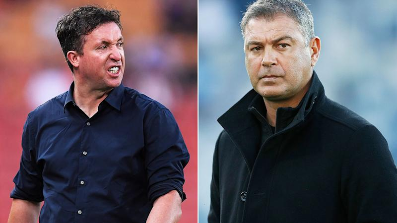 Pictured on the left, Robbie Fowler accused Mark Rudan's Western United side of cheating.