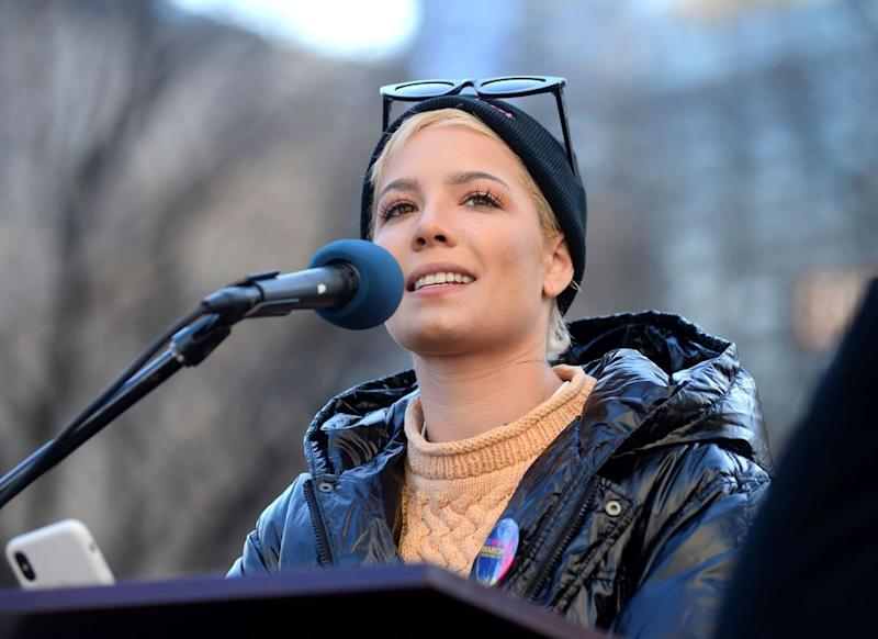 Halsey at the Women's March in New York City