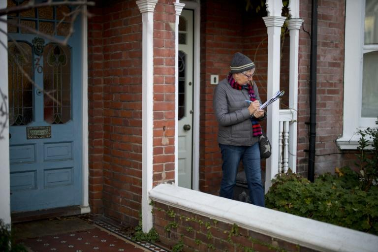 Sue Shanks, a Green Party councillor in Brighton and Hove City Council canvasses in Brighton. The Green Party is pro-Europe and has joined anti-Brexit alliance with Liberal Democrats and Welsh nationalists Plaid Cymru
