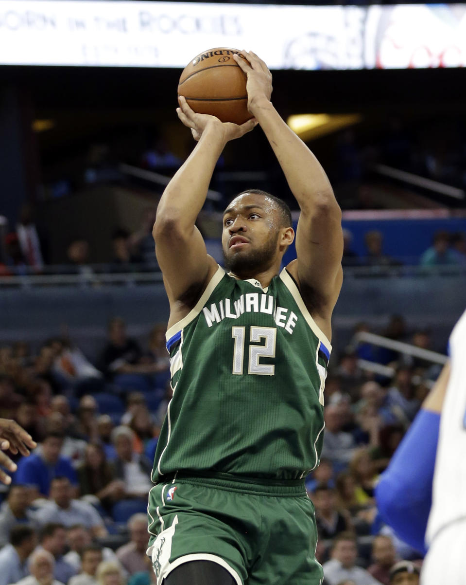 Parker averaged 20.1 points on 49 percent shooting before tearing his ACL last season. (AP Photo/John Raoux)